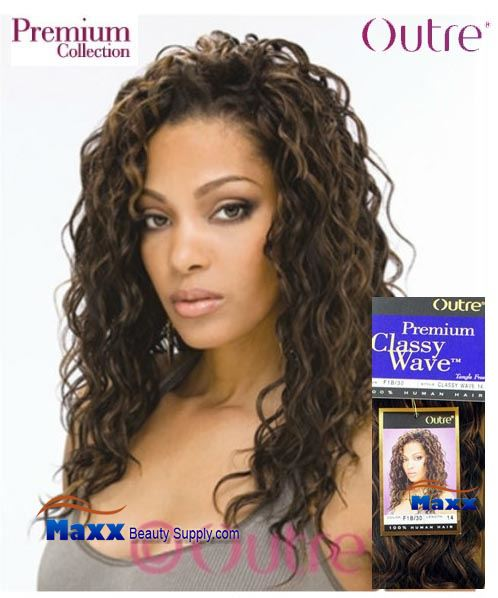Outre Premium Collection Human Hair Weave - Classy Wave 10""